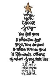 Choose Christmas Joy embroidery design
