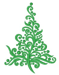 Decorative Christmas Tree embroidery design