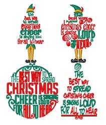 Elf Christmas Sayings embroidery design