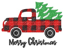 Plaid Christmas Pick Up embroidery design