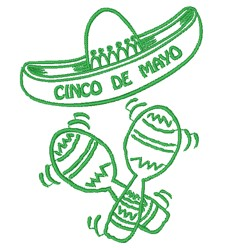Celebrate Cinco de Mayo embroidery design