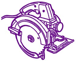 Circular Saw Outline embroidery design