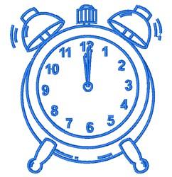 Alarm Clock Outline embroidery design