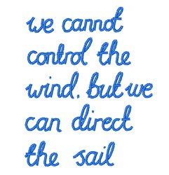 Direct The Sail embroidery design