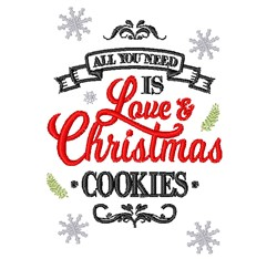 Love & Christmas Cookies embroidery design