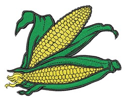 Realistic Ears Of Corn embroidery design