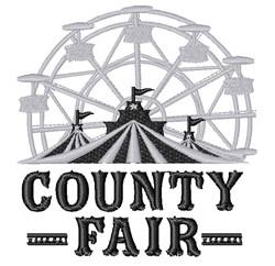 County Fair Ferris Wheel embroidery design