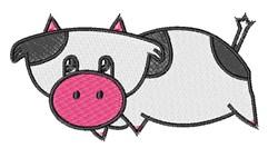 Cartoon Cow embroidery design