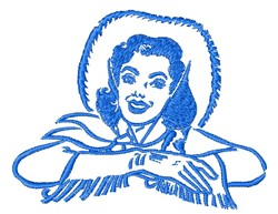 Dale Evans Outline embroidery design