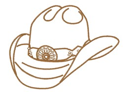 Stetson Cowboy Hat embroidery design