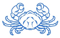 Realistic Crab Outline embroidery design