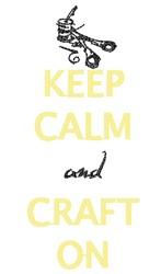 Keep Calm Craft On embroidery design