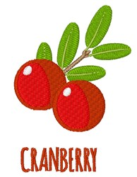 Cranberries embroidery design