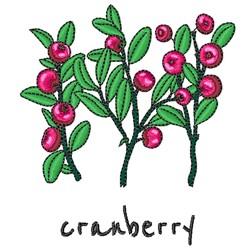 Cranberry Plants embroidery design