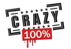 100% Crazy embroidery design