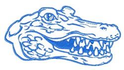 Alligator Head Outline embroidery design