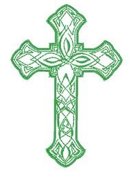 Decorative Cross Outline embroidery design