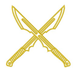 Crossed Swords Outline embroidery design