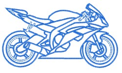 Speed Bike Outline embroidery design