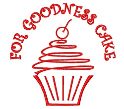 For Goodness Cake embroidery design
