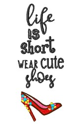 Wear Cute Shoes embroidery design