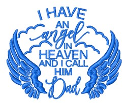 An Angel Called Dad embroidery design