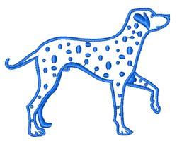 Dalmatian Outline embroidery design
