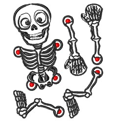 Halloween Skeleton Outline embroidery design