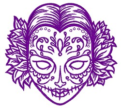 Day Of The Dead Outline embroidery design