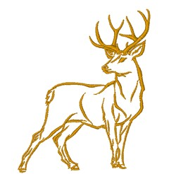 Buck Outline embroidery design