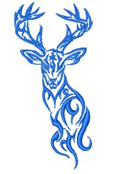 Swirly Buck Outline embroidery design