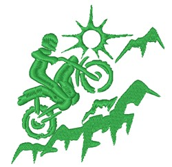 Off Road Motorcycle Silhouette embroidery design