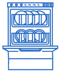 Dishwasher Outline embroidery design