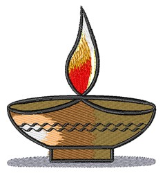 Hindu Homa Ritual Bowl embroidery design