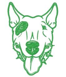 Bull Terrier Outline embroidery design