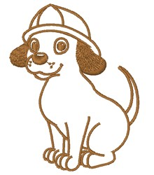 Fire Pup Outline embroidery design