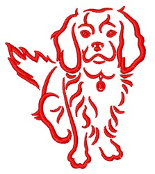 Spaniel Outline embroidery design