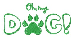 Oh My Dog embroidery design