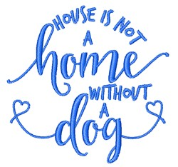 House Without Dog embroidery design