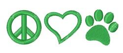 Peace Love Pets embroidery design