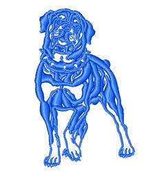 Rotweiler embroidery design