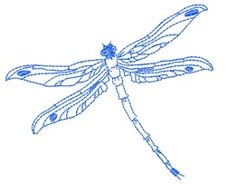 Outline Dragonfly embroidery design