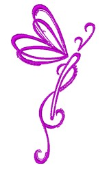 Dragonfly Swirl embroidery design