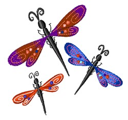 Dragonfly Bugs embroidery design