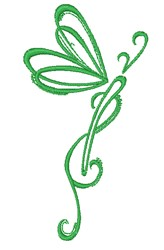 Swirl Dragonfly embroidery design