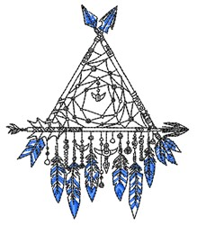 Dreamcatcher embroidery design