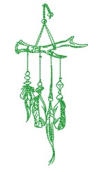Feather Mobile embroidery design