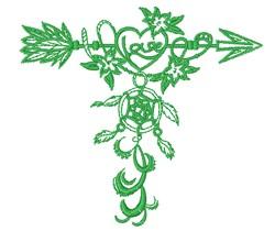 Love Dream Catcher embroidery design