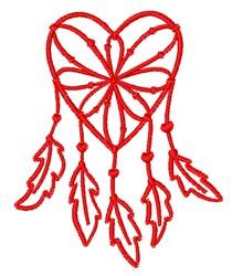 Heart Dream Catcher embroidery design