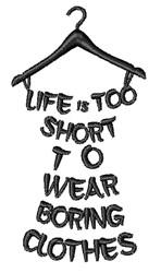 Boring Clothes embroidery design